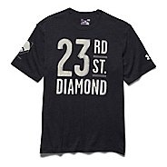 Mens Under Armour 23rd St. Diamond T Short Sleeve Technical Tops