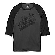 Mens Under Armour Script 3/4 Short Sleeve Technical Tops