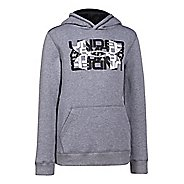 Kids Under Armour Rival Cotton Logo X 2 Long Sleeve Hooded Technical Tops