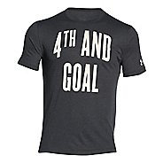 Mens Under Armour 4th AND Goal T Short Sleeve Technical Tops