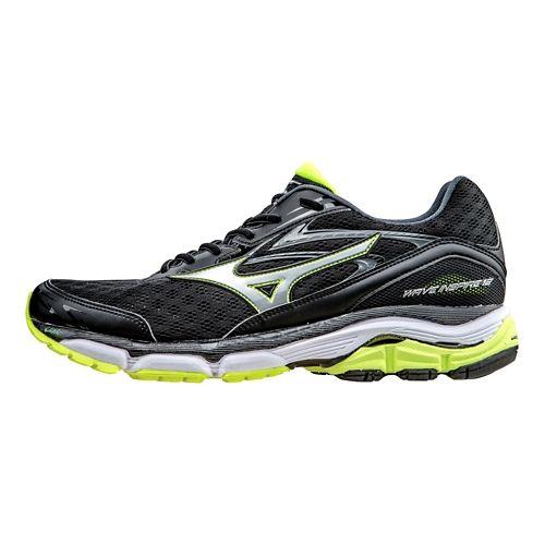 Mens Mizuno Wave Inspire 12 Running Shoe - Black/Silver 9.5