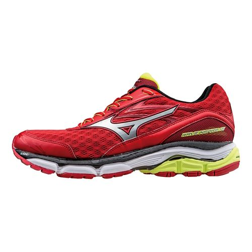 Mens Mizuno Wave Inspire 12 Running Shoe - Red/Silver 9.5