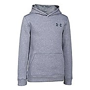 Kids Under Armour Rival Cotton Long Sleeve Hooded Technical Tops