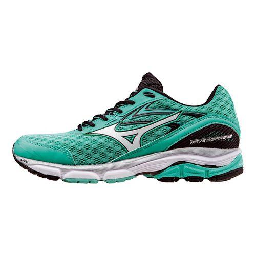 Womens Mizuno Wave Inspire 12 Running Shoe - Electric Green/White 9