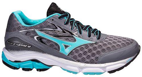 Womens Mizuno Wave Inspire 12 Running Shoe - Grey/Blue 6