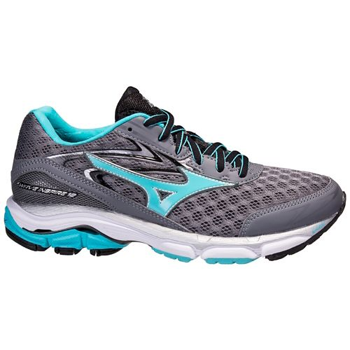 Womens Mizuno Wave Inspire 12 Running Shoe - Grey/Blue 6
