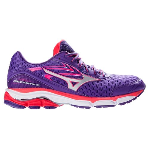Womens Mizuno Wave Inspire 12 Running Shoe - Purple/Pink 7
