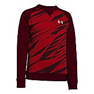 Kids Under Armour Rival Cotton Crew Long Sleeve No Zip Non-Technical Tops