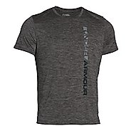 Mens Under Armour Tech Vertical Wordmark Short Sleeve Technical Tops