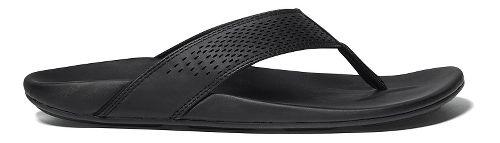Mens OluKai Kekoa Sandals Shoe - Black/Black 11