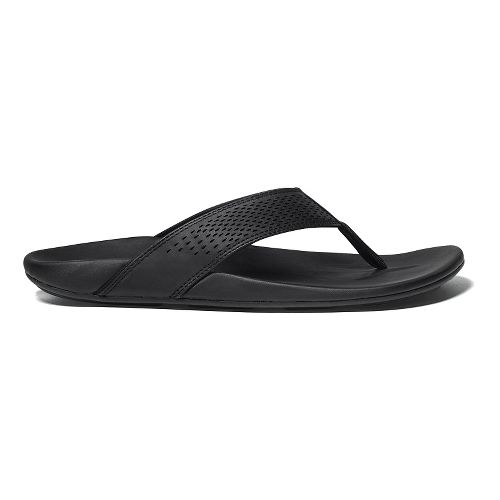Mens OluKai Kekoa Sandals Shoe - Black/Black 14