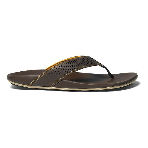 Mens OluKai Kekoa Sandals Shoe - Dark Java/Golden 8