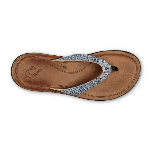 Womens OluKai Pua Sandals Shoe - Pewter/Sahara 11