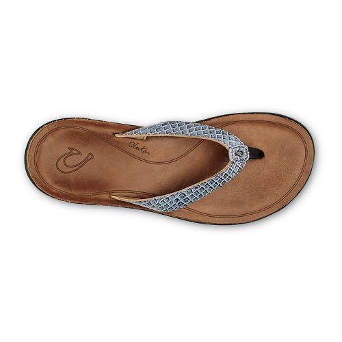 Womens OluKai Pua Sandals Shoe - Pewter/Sahara 8