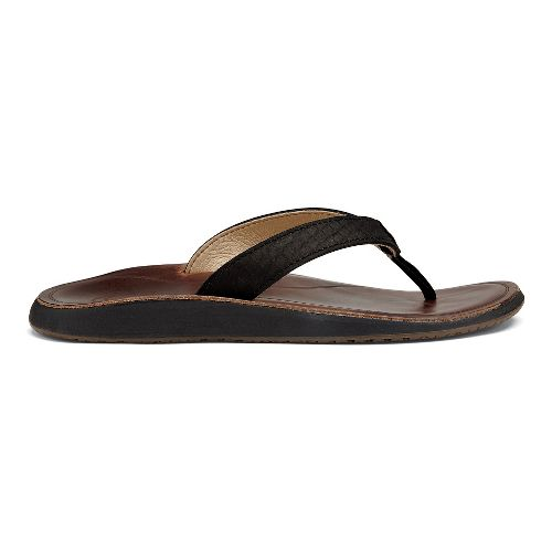 Womens OluKai Pua Sandals Shoe - Black 8