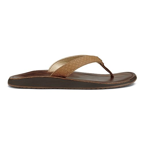 Womens OluKai Pua Sandals Shoe - Sahara/Bean 5
