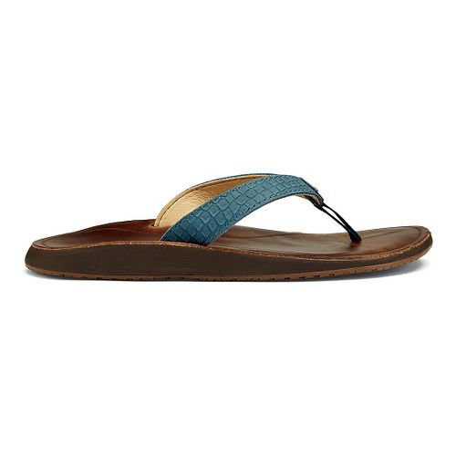 Womens OluKai Pua Sandals Shoe - Ocean/Bean 9