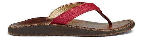 Womens OluKai Pua Sandals Shoe - Deep Red/Bean 10