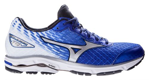 Mens Mizuno Wave Rider 19 Running Shoe - Blue/White 8