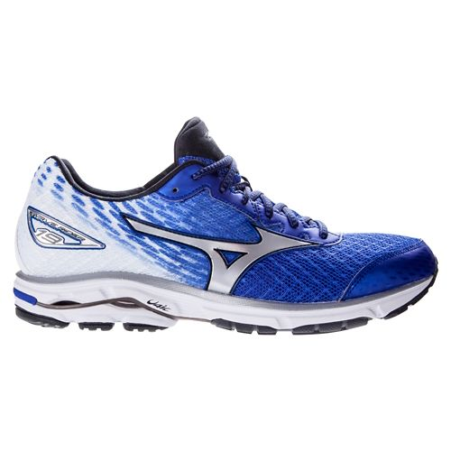 Mens Mizuno Wave Rider 19 Running Shoe - Blue/White 12