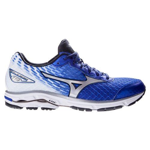Mens Mizuno Wave Rider 19 Running Shoe - Blue/White 12.5
