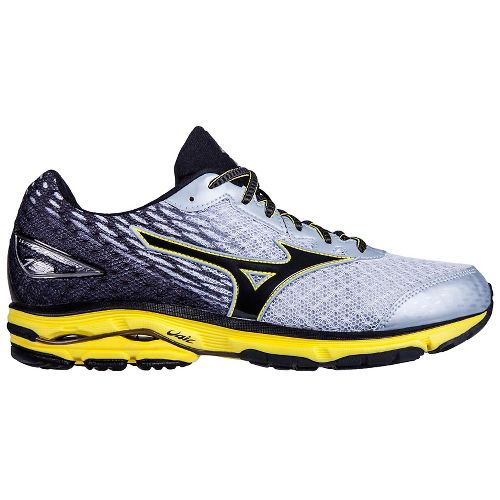 Mens Mizuno Wave Rider 19 Running Shoe - Silver/Black 10.5