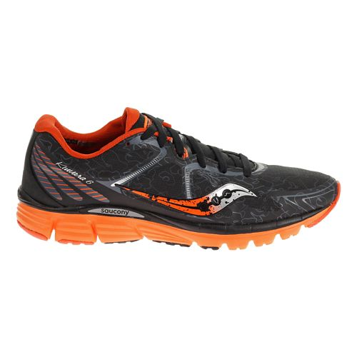 Mens Saucony Kinvara 6 Runshield Running Shoe - Black/Orange 9.5