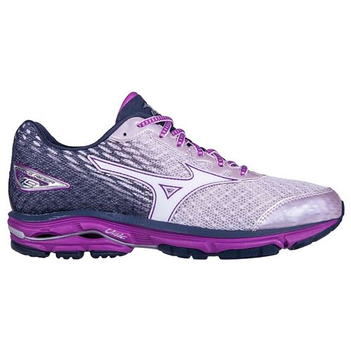 Womens Mizuno Wave Rider 19 Running Shoe - Lilac/Violet 10
