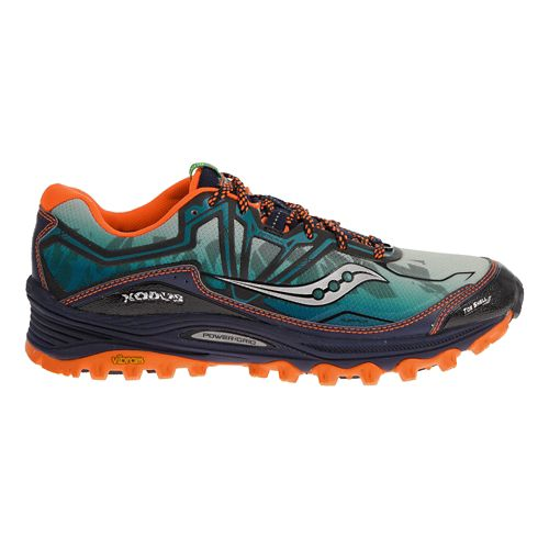 Mens Saucony Xodus 6.0 Trail Running Shoe - Blue/Orange 9