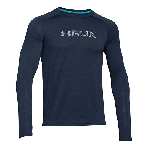 Mens Under Armour Run Twist T Long Sleeve No Zip Technical Tops - Academy M ...