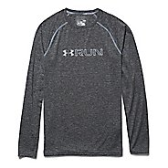Mens Under Armour Run Twist T Long Sleeve No Zip Technical Tops