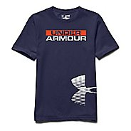 Kids Under Armour Reflective Logo T Short Sleeve Technical Tops