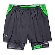Mens Under Armour Launch Racer 2-in-1 Shorts