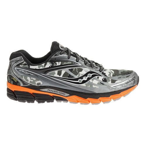 Mens Saucony Ride 8 GTX Running Shoe - White/Black 12