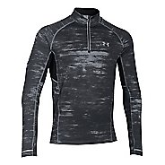 Mens Under Armour Launch Printed 1/4 Zip Long Sleeve Technical Tops