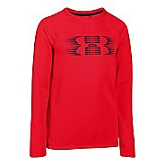 Kids Under Armour Waffle Crew Long Sleeve No Zip Technical Tops