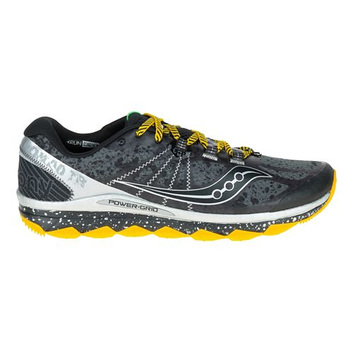 Mens Saucony Nomad TR Trail Running Shoe - Grey/Black 9