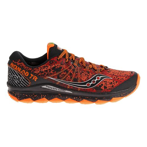 Mens Saucony Nomad TR Trail Running Shoe - Red/Black 11