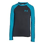 Kids Under Armour Waffle Long Sleeve Hooded Technical Tops