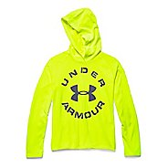 Kids Under Armour Tech Long Sleeve Hooded Technical Tops