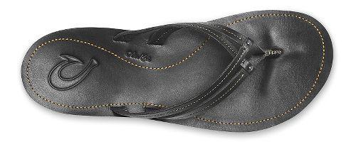 Womens OluKai U'i Sandals Shoe - Black/Black 5