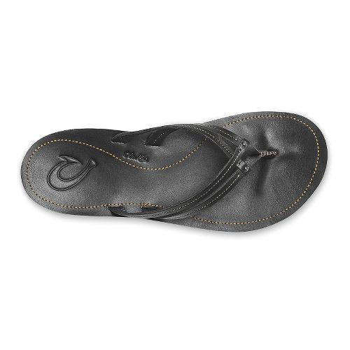 Womens OluKai U'i Sandals Shoe - Black/Black 5