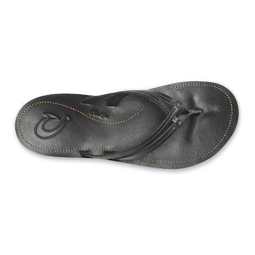 Womens OluKai U'i Sandals Shoe - Black/Black 7