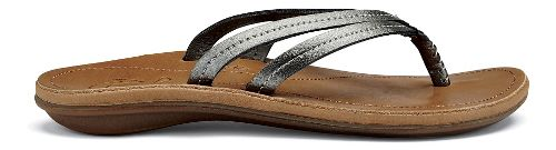 Womens OluKai U'i Sandals Shoe - Pewter/Sahara 5