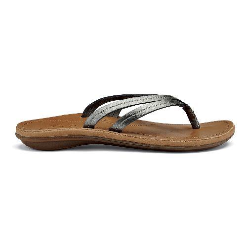 Womens OluKai U'i Sandals Shoe - Pewter/Sahara 10