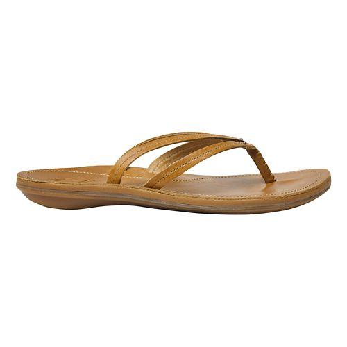Womens OluKai U'i Sandals Shoe - Sahara/Sahara 10