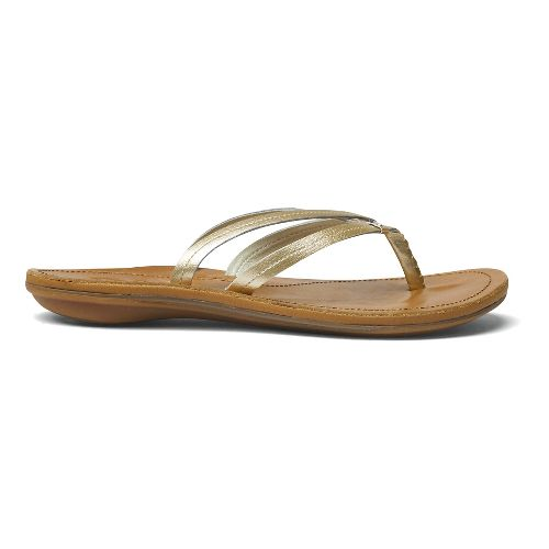 Womens OluKai U'i Sandals Shoe - Bubbly/Sahara 10