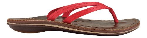Womens OluKai U'i Sandals Shoe - Ohia Red/Dark Java 8