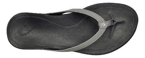 Womens OluKai Ho'opio Sandals Shoe - Cooler Grey/Black 10