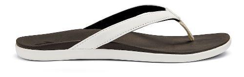 Womens OluKai Ho'opio Sandals Shoe - Black Honu/Charcoal 5